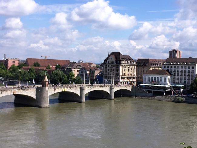 Basel, Switzerland, highest navigable point for ships on the Rhine River (Photo by David G. Molyneaux, TheTravelMavens.com)