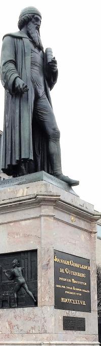 Gutenberg statue in Mainz