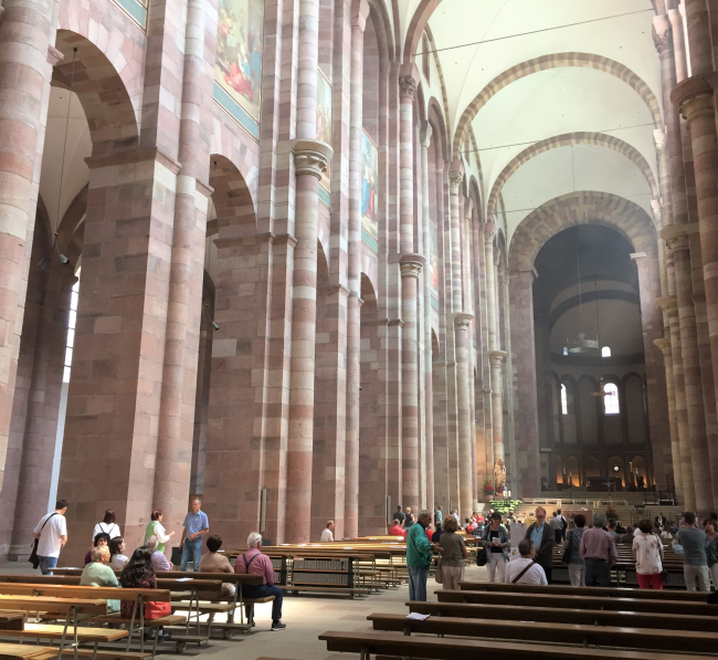 The restored Speyer Cathedral (Photo by David G. Molyneaux, TheTravelMavens.com)