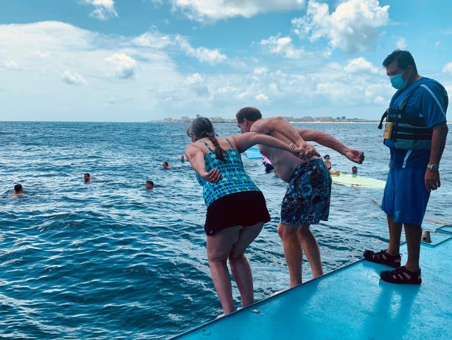 Water sports platform on Star Breeze (photo by Fran Golden, TheTravelmavens.com)