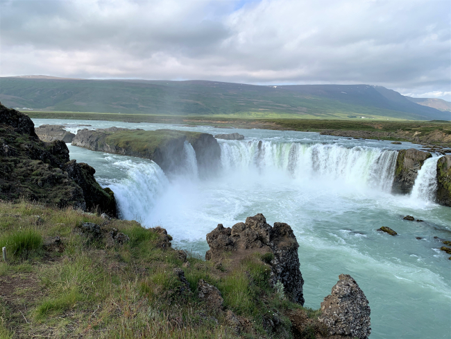 Godafoss, one of the great waterfalls of Iceland, is in the river Skjalandafljot in northern Iceland. (Photo by David G. Molyneaux, TheTravelMavens.com)