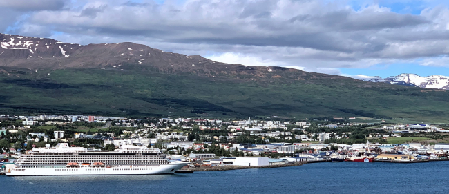 Akureyri sits at the end of Iceland's longest fjord and is the gateway to waterfalls and geothermal hot sulfuric mudflats (Photo by David G. Molyneaux, TheTravelMavens.com)