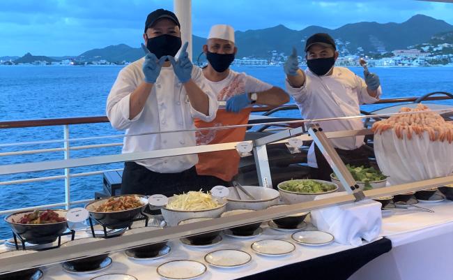 Deck buffet on the Star Breeze (photo by Fran Golden, TheTravelMavens.com)